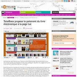 TotalBoox propose le paiement du livre électronique à la page lue