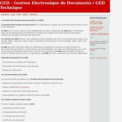 Definition GED - Gestion Electronique de Documents, Gestion Documentaire