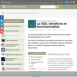 GED : enjeux et fonction de la gestion électronique des documents