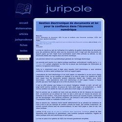 JURIPOLE - Gestion electronique de documents