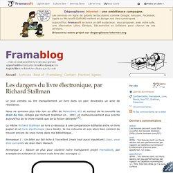 Les dangers du livre électronique, par Richard Stallman