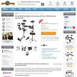 Kit de Batterie Digitale électronique 402 pour Débutant par Gear4music à Gear4Music.com