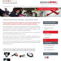 Sous-traitance électronique industrielle sur mesure - Komaspec