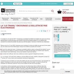 """La """"loi Travail"""" encourage le bulletin de paie électronique"""