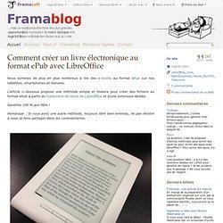 Comment créer un livre électronique au format ePub avec LibreOffice
