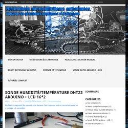 Electronique microcontroleurs embarquées, mesures de grandeurs physiques et traitement.