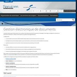 Gestion électronique de documents-Services numériques de l'Université de Strasbourg