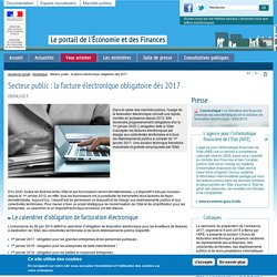 Secteur public : la facture électronique obligatoire dès 2017