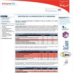 Gestion de la production et livraison / Le commerce électronique / Comprendre / Menu Gauche / Ce site est destiné plus particulièrement aux entreprises qui désirent mener à bien leur projet d'intégration des TIC pour améliorer leur compét