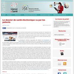 Le dossier de santé électronique vu par les patients