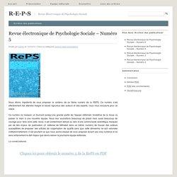 Revue électronique de Psychologie Sociale – Numéro 5