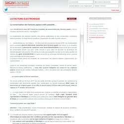 La facture électronique / Règlementation / Cadre légal / Homepage - SignExpert