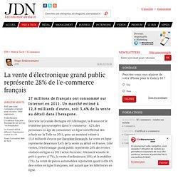 La vente d'électronique grand public représente 28% de l'e-commerce français