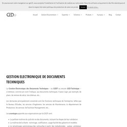 Gestion Electronique des Documents Techniques