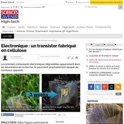 Electronique : un transistor fabriqué en cellulose