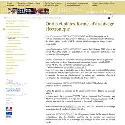 outils et plates-formes d'archivage