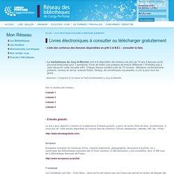 Livres électroniques à consulter ou télécharger gratuitement | Réseau des Bibliothèques de Cergy-Pontoise
