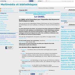 Ressources électroniques en bibliothèque - Multimédia et bibliothèques
