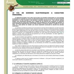 LE VOL DE DONNEES ELECTRONIQUES A CARACTERE PERSONNEL
