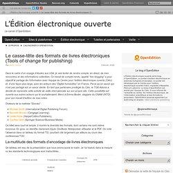 Le casse-tête des formats de livres électroniques (Tools of change for publishing)