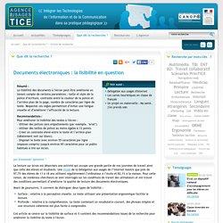 L'Agence nationale des Usages des TICE - Documents électroniques : la lisibilité en question