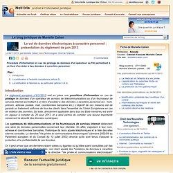Le vol de données électroniques à caractère personnel : présentation du règlement de juin 2013