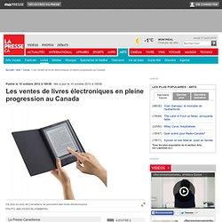 Les ventes de livres électroniques en pleine progression au Canada
