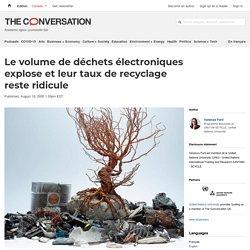 Le volume dedéchets électroniques explose etleurtaux derecyclage reste ridicule
