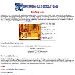Electropathy - MuseumofQuackery.com