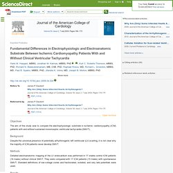 Fundamental Differences in Electrophysiologic and Electroanatomic Substrate Between Ischemic Cardiomyopathy Patients With and Without Clinical Ventricular Tachycardia