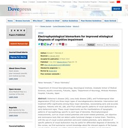 Electrophysiological biomarkers for improved etiological diagnosis of