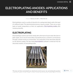 Electroplating Anodes: Applications and Benefits