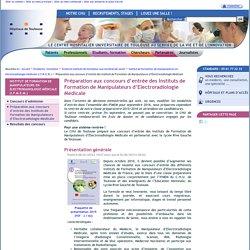 Préparation aux concours d'entrée des Instituts de Formation de Manipulateurs d'Electroradiologie Médicale