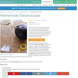 Homemade Electroscope Experiment