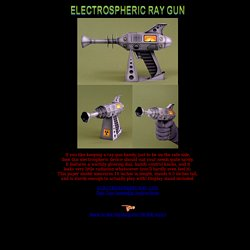 ELECTROSPHERIC RAY GUN (a free papercraft model)