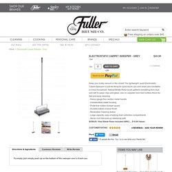 Electrostatic Carpet Sweeper from Fuller Brush Co.