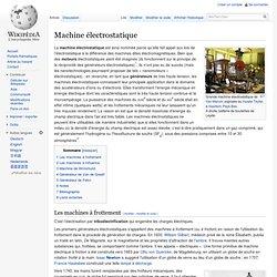 Machine électrostatique