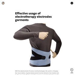 Effective usage of electrotherapy electrodes garments