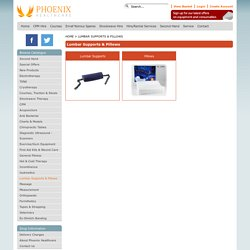 Buy Lumbar Supports & Pillows - Phoenix Healthcare Products - Electrotherapy, Physiotherapy & Exercise Supplies