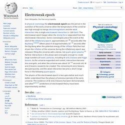 Electroweak epoch