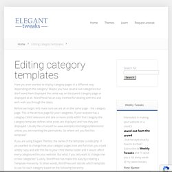 Editing category templates