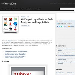 40 Elegant Logo Fonts for Web Designers and Logo Artists