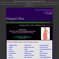 Plus-size Dresses and Full-Figured Special Occasion Wear @ Elegant Plus, Sizes 12-34w