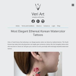Most Elegant Ethereal Korean Watercolor Tattoos – Veri Art