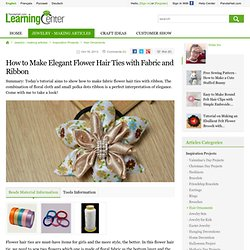 Flower with Fabric and Ribbon