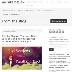 Divi by Elegant Themes: Divi Sections and how to use the parallax effect like a pro