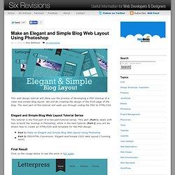 Make an Elegant and Simple Blog Web Layout Using Photoshop