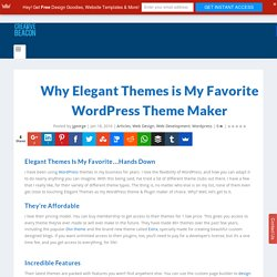 Why Elegant Themes is My Favorite Theme Maker