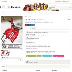 """DROPS 104-46 - Elegant Hjärta i """"Cotton Viscose"""" och """"Glitter"""" til Jul. - Gratis mönster från DROPS Design"""
