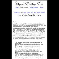 Elegant Wedding Vows